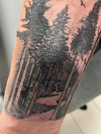 Tatouage, OM, création Blue Art Tattoo