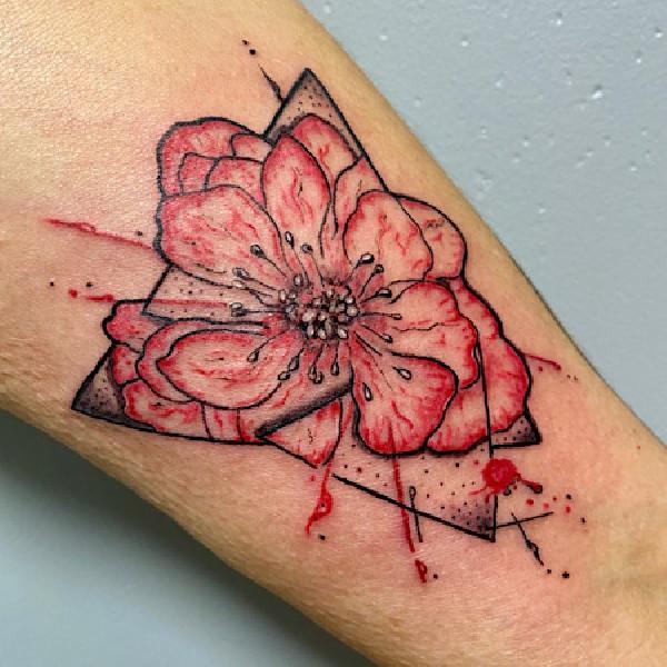 Tatouage Old School rose